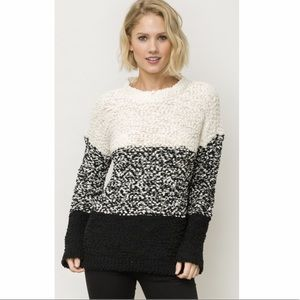 Anthro Mystree Colorblock Cozy Sweater